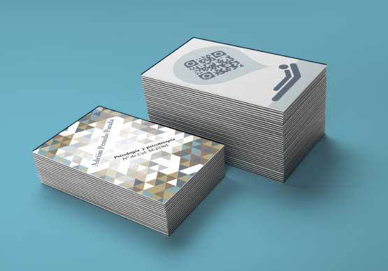 tarjeta de visita creativa para psicologo con qr