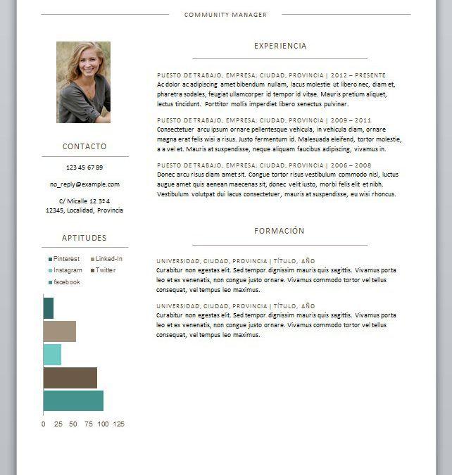 Diseños de CV gratuitos