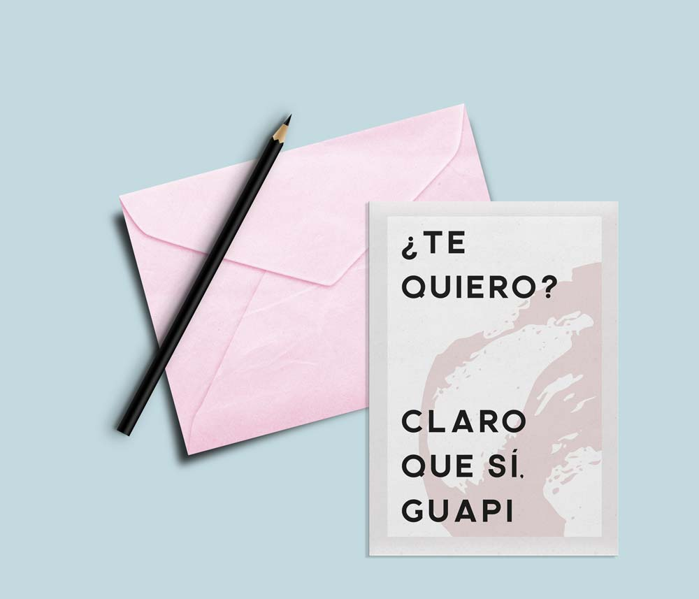 tarjetas de san valentin claro que si guapi