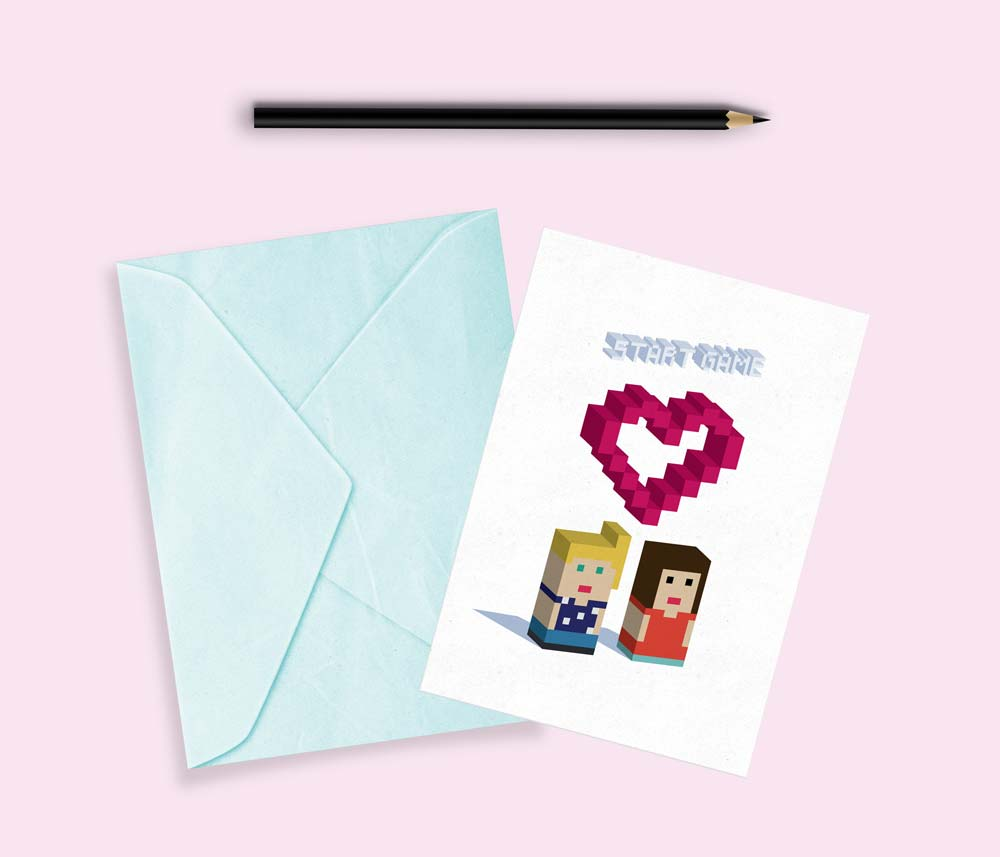 tarjetas de san valentin divertida pixel