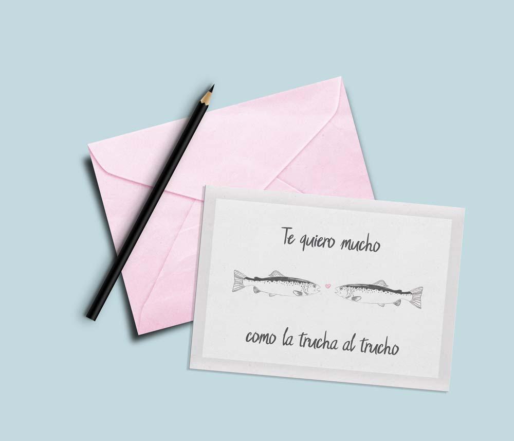 tarjetas de san valentin divertidas trucha