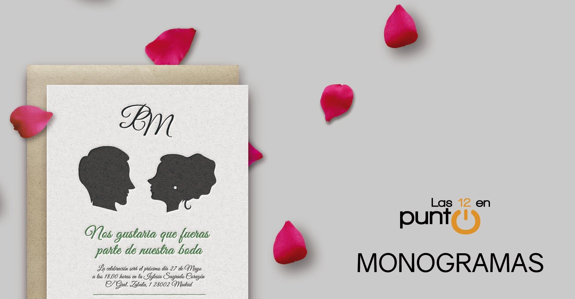 Monogramas boda | Las 12 en Punto