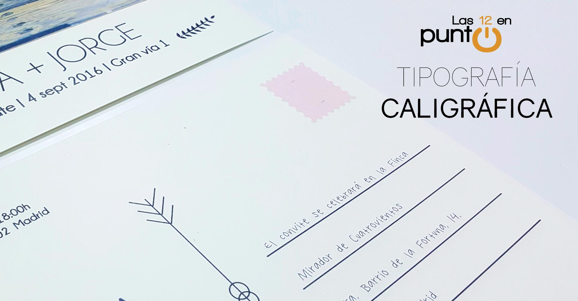 Invitaciones de boda escrita a mano