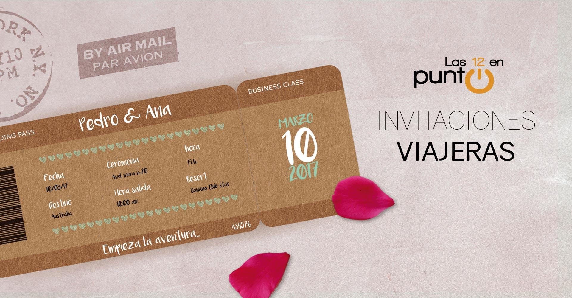 Invitación boda pasaporte | Las 12 en Punto