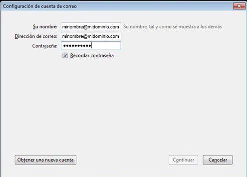 Configuración de la cuenta de correo | Las 12 en Punto - Diseño web, gráfico, posicionamiento Madrid