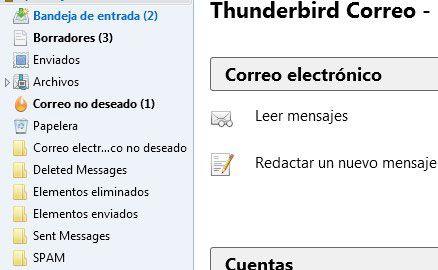 Opciones del menú izquierdo de thunderbird | Blog Las 12 en Punto - Diseño web, SEo, diseño grafico madrid