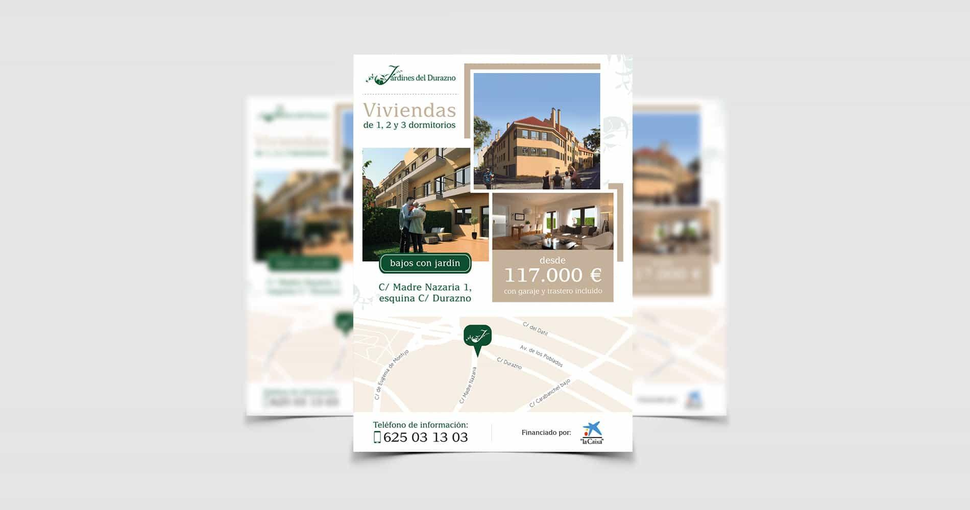Flyer para promotora inmobiliaria | Las 12 en Punto